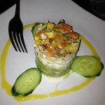 Good appetizer - crab tower
