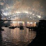 Midnight fireworks 31st Dec 2013