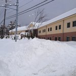 Snow covered Chisun Inn, karuizawa