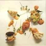 """Mixed Cold Seafood with Giant Crab, 'Butterfly"""" Prawns, Oyster and Clams, Modern Cocktail Sauce"""