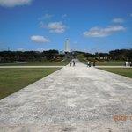 モニュメント側から沖縄平和祈念塔