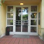 """entrance to our """"villa"""""""