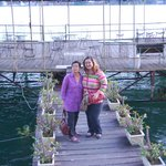 my aunt and i on the doc/jetty of the hotel
