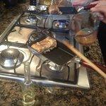 Making the omelette