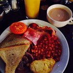 Full English buffet style breakfast at guys!