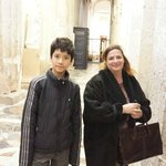 Cathedral in Siracusa with my son.