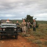 A stop for refreshments out in the bush