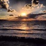 Il tramonto visto dal Ristorante...