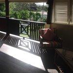 The sunny first floor verandah