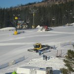 Snow ploughs - view from our room
