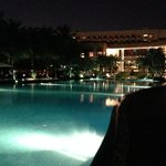 The giant pool at night. Amazing!