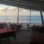 While dining we enjoy the Dickenson Bay Beach...just breathe!