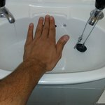 Smallest sink on earth. Smaller than my hand. im 5'10 (178cm) and very normal sized man