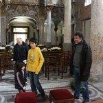 MY SON & FABIO AT MARTORANA CHURCH IN PALERMO