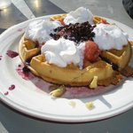 World Famous waffles (fully loaded of course)