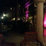 Bar Patio at night
