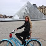 In front of the Louvre. (Landmarks tour)