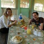 Aurel et Mag au repas