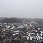 7階の部屋からの眺め(雪で遠望はなし)