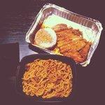 Yaki soba e chicken teri yaki����❤️