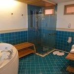 huge bathroom in sea view room