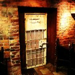 Original cell door, found in the restaurant