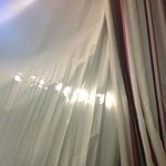 Holes in bedoom curtains