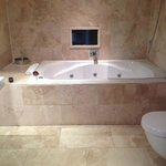 Bathroom with tv