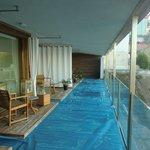 vista delle terrazze-piscina
