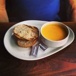 Soup of the day - carrot and potato