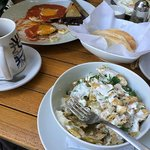 Chilaquiles at Juanita Diavola