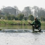 Fishing in the River Boyne - on the grounds of Bellinter House