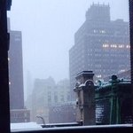 Snow Falling on Madison Ave on 02/13/2014