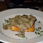 Mushrooms on Melba toast yum yum!