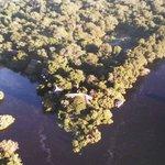 Vista aérea (foto tirada de um livro do hotel)