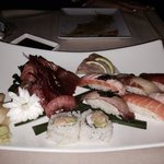 Sushi al tartufo e sushi sashimi