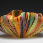 Glass art piece by Toots Zynsky