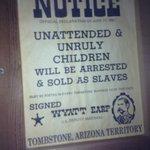 Fun picture in The Wyatt Earp room