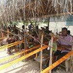 Kente weaving village in the volta region.