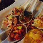 Spoons fill with delicious ceviche!!