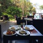 First round of breakfast at Karolas Restaurant