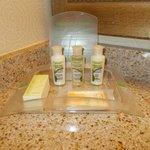 soaps...shampoo, conditioner...