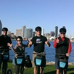 Segway Tour overlooking the harbor and San Diego Skyline