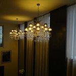 Lighting over the breakfast room