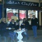 star coffee on a rare alfresco evening