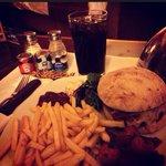 Huge Beef & chorizo burger £9.50