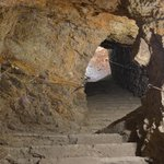 Escaleras de la mina.