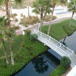 Canals for paddle boats around resort