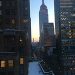 View from suite; Empire State Building, Fifth Ave, Freedom Tower