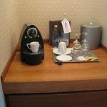 cafetière nespresso et seau glace